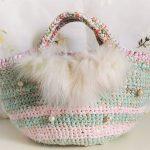 new antique fur & crochet